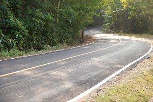 Down a curvy road
