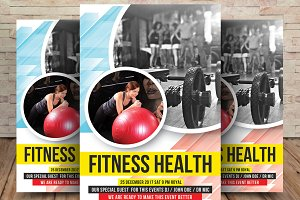 Health & Fitness Gym Flyer Template