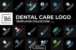 Collection of 18x5 Dental Care Logos