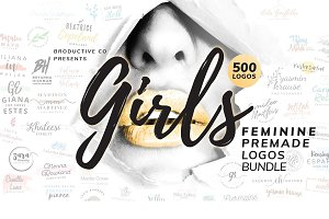 Girls Feminine Premade Logos Bundle