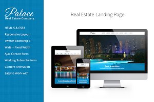 Palace Real Estate Landing Page