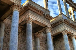 Columns in Roman Theater (Merida)