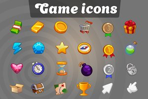 Icon set for UI mobile game