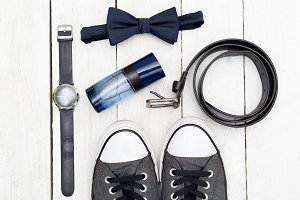 Men's accessories and shoes.