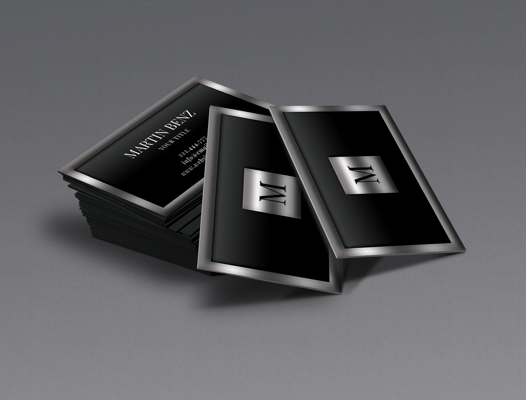 Metal Finish 3d Looks Business Card Business Card Templates