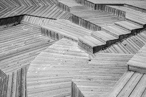 Monochrome geometric staircase