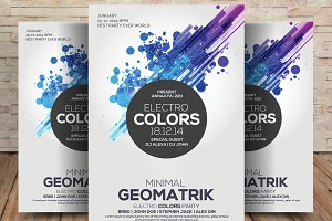 Electro Colors - Flyer Template