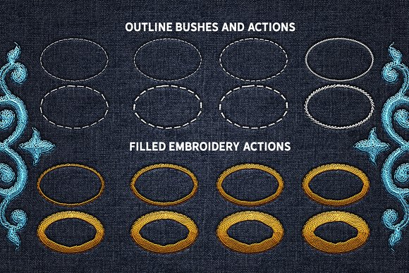 Machine Embroidery Photoshop Actions Actions Creative Market
