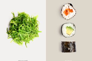 Sushi and wakame