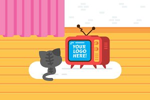 Vintage TV Cat