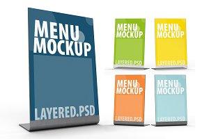 Mockup menu frame. PSD