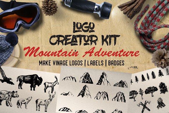 Logo Creator Kit Mountain Adventure