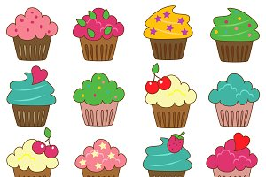 Cupcakes Vectors