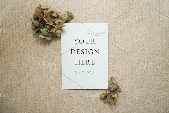 Fall Floral Mockup  in Product Mockups