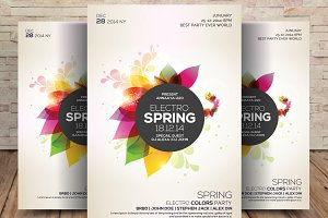 Spring Party Flyer • Hello! Spring