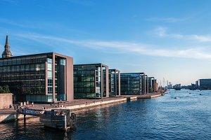 Embankment view of Copenhagen.