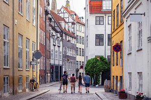 Street view of Copenhagen.