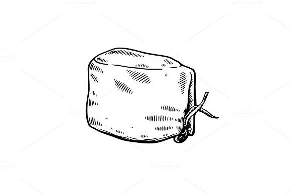 Doctor hat engraving vector illustration