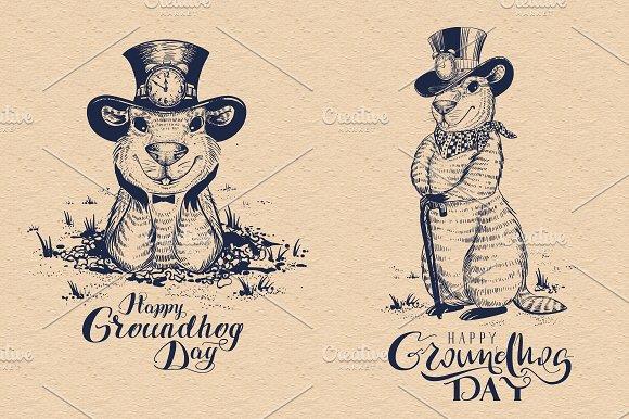 Happy Groundhog Day Funny Marmot