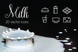 MILK - vector line icons
