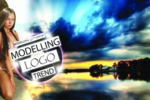 Professional modelling trend logo