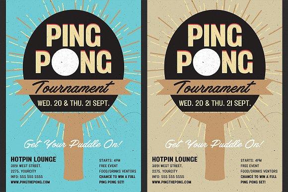 Table Tennis Flyer Flyer Templates Creative Market