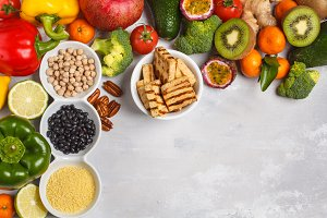 Vegan food background