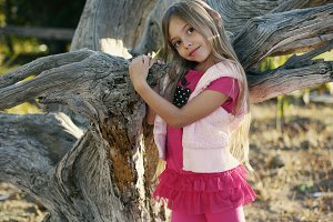Young talented girl loves modelling