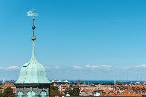 Aerial view of Copenhagen.