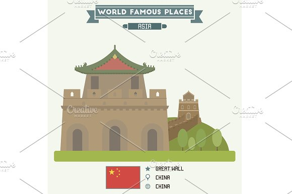 Great Wall. Famous Places of China