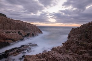A sunrise on the Costa Brava