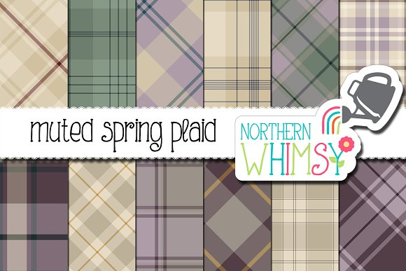Muted Spring Plaid Digital Paper