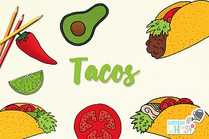 Food Illustrations - Tacos