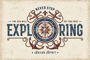 Never Stop Exploring Typography
