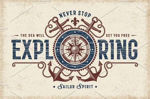 Never Stop Exploring Typography