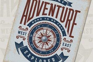 Great Adventure Typography