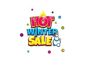 Comic text advertise glosssy winter sale