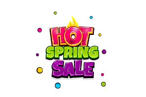 Comic text advertise glosssy spring sale