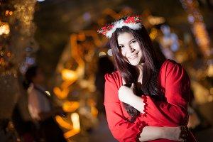 Santa woman dressing