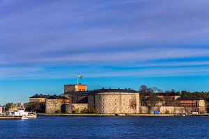 Vaxholm fortress in the archipelago.