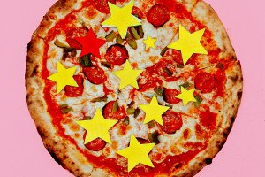 Pizza Stars. Fast Food Fаshion Art F