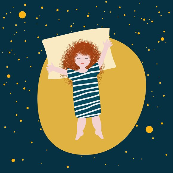 Cute Girl Lying On The Moon Fantasy