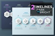 2 Polygon Timelines (Dark vs Bright)