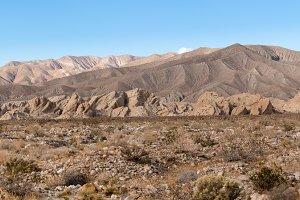 Badlands near Borrego Springs in California desert