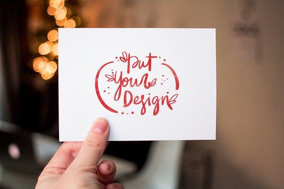 3 postcard and invitation mock ups in Product Mockups