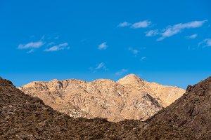 Valley near Borrego Springs in California desert