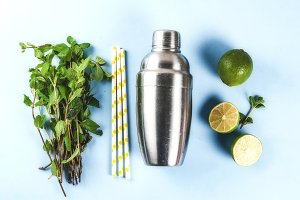 Ingredients for mojito or lemonade