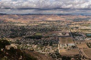 Panorama of Lake Elsinore in California