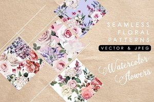 NEW!!! Seamless floral pattern