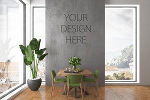 Interior mockup - blank wall mock up